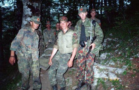 Craig Jurisevic in Kosovo War, 1999, (third from left)