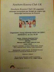 Newborn Kosova Club UK event