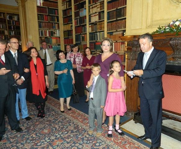 Mbremja lamtumirese e Ambasadorit Muhamet Hamiti, Londer