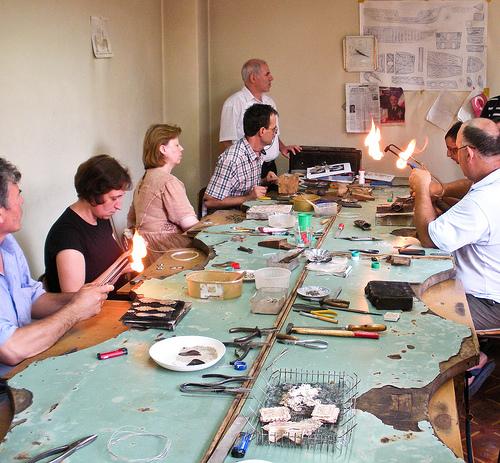 Silver Filigree masters working in Prizren, Kosovo