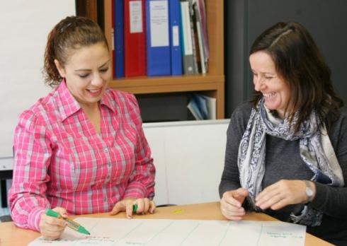 Dagenham mum Flutra Bara Shega with Luljeta Nuzi from the Shpresa Programme. Shpresa means 'hope' in Albanian (picture: Steve Poston)