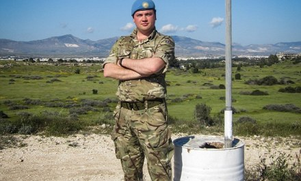 A British Soldier makes 2,800 mile journey home from Cyprus through Albania to Britain on foot to raise cash for wounded servicemen