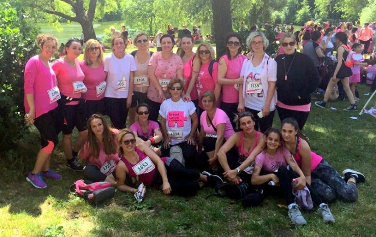 Eagles United FC mums that participated at the Race for Life event on 4th July 2015 in London.