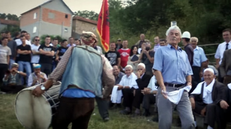 """""""We salute the life of Nesim Kryeziu (1938-2016) the wonderful man in the film performing a traditional dance with a glass of water on his head at a wedding in his village of Brezne in the Opoja region of Kosovo."""""""