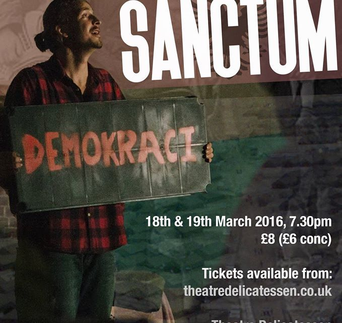 Quite Right Theatre presents Sanctum, the story of a young Kosovan called Gjergj