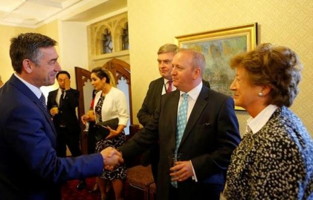 Kadri Veseli gjatë takimit me parlamentarë britanik në House of Lords në Londër, 6 qershor 2016.