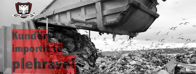 Posteri: Kundër importit të plehrave të huaja në Shqipëri