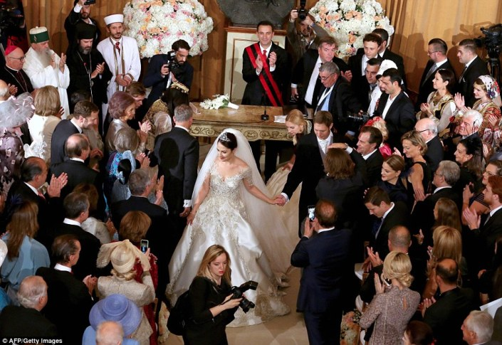 Over 20 royal families and more than 100 aristocrats from all across the world over attended the opulent event in Tirana