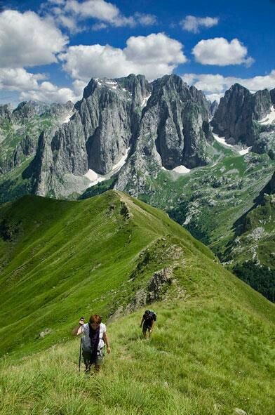 Tracking through Northern Albania