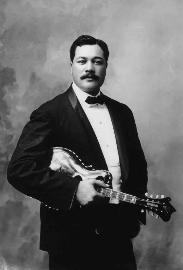 Ka'ai with an early Gibson mandolin.