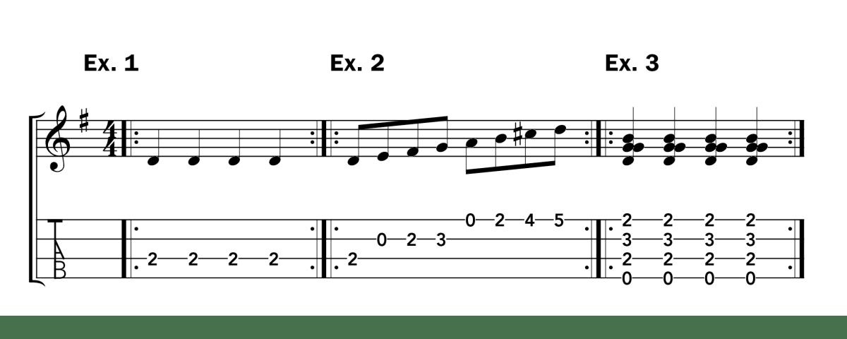 Clawhammer Lesson Uke ex 1-3