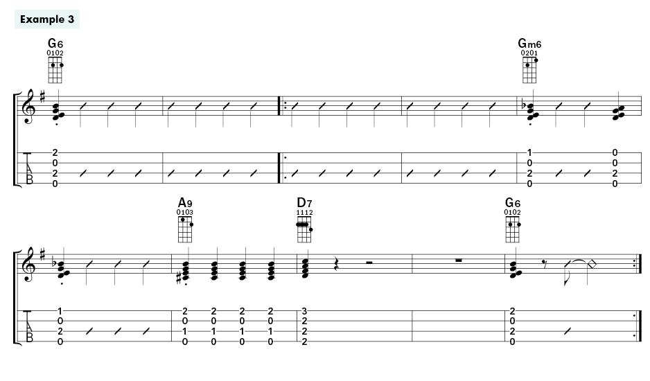 CASEY MACGILL Swing Ukulele Rhythm Ex3