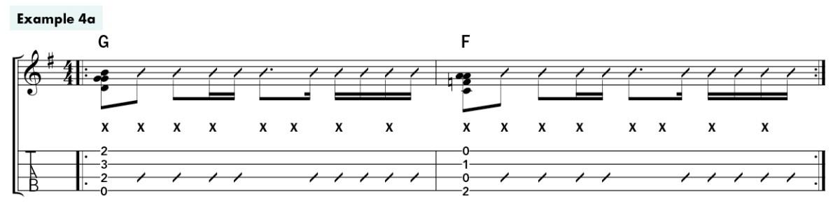 metronome ukulele rhythm lesson ex4a