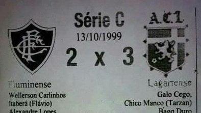 Lagartense 3 x 2 Fluminense: você sabe que este jogo nunca existiu, certo?