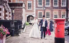 Bride arriving at Grays Inn