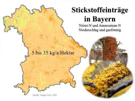 Stickstoffeinträge Bayern