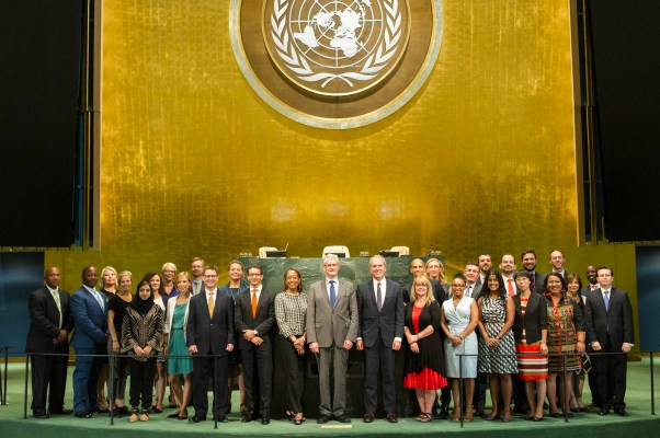 Equipo del Presidente del septuagésimo período de sesiones de la Asamblea General ©Foto ONU/Mark Garten