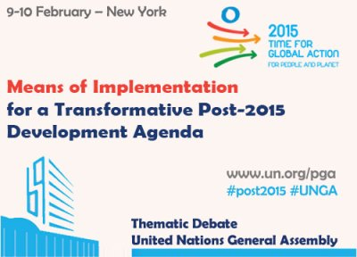 Means of Implementation for a transformative post-2015 development agenda