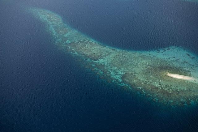 Aerial View of Marovo Lagoon, Solomon Islands - UN Photo/Eskinder Debebe