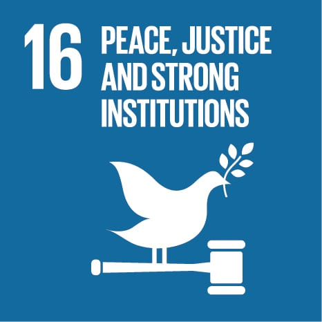 Goal 16: Promote peaceful and inclusive societies for sustainable development, provide access to justice for all and build effective, accountable and inclusive institutions at all levels