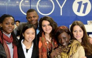 UNICEF youth climate advocates attend the UN climate change conference in Paris, France. 2 December 2015. Photo: UNICEF France/Zumstein