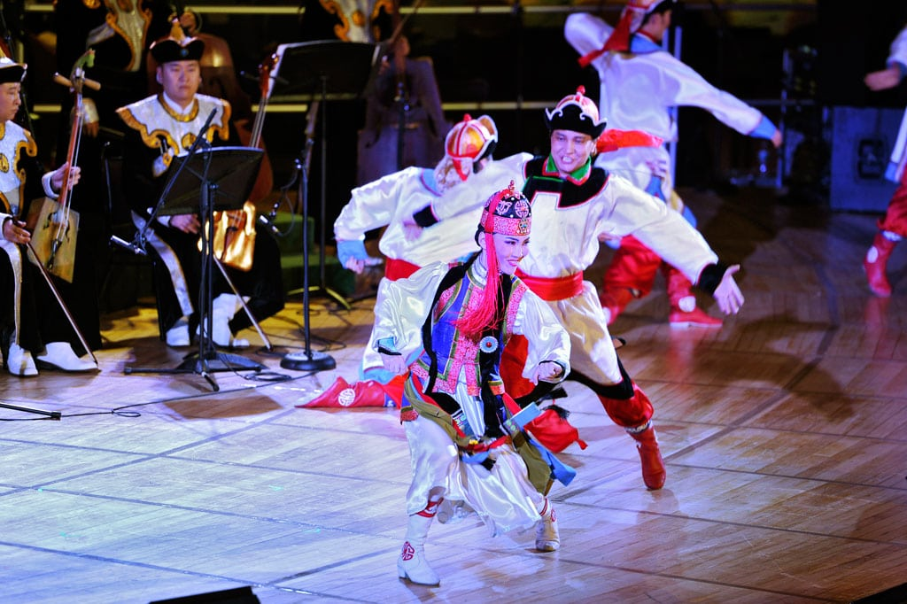 Photo: Members of Mongolia's National Academic Ensemble of Folk Song and Dance perform at UN Headquarters celebrating cultural diversity.