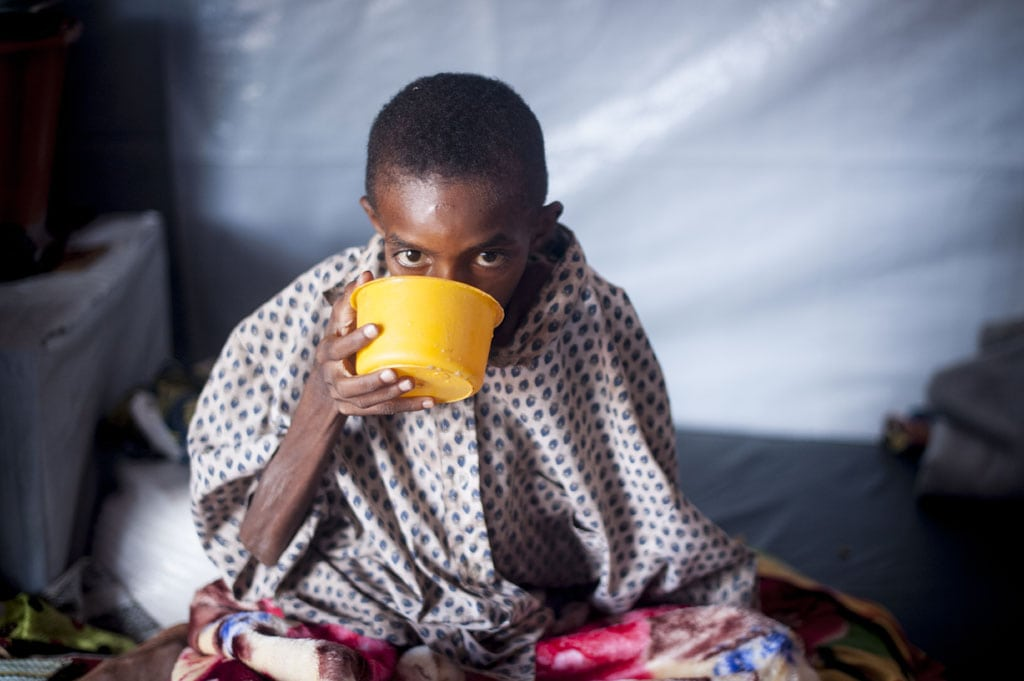 Photo: A refugee child in Batouri, Cameroon.