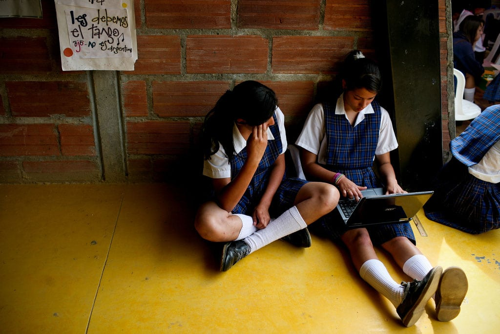Photo: Students at San Jose Secondary School, a rural school in in La Ceja, Antioquía, Colombia. Photo: Charlotte Kesl/World Bank