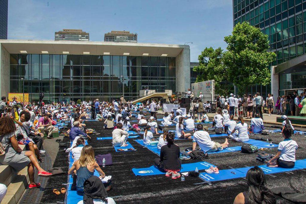 Photo: International Day of Yoga celebration at UN Headquarters. UN Photo/JC McIlwaine