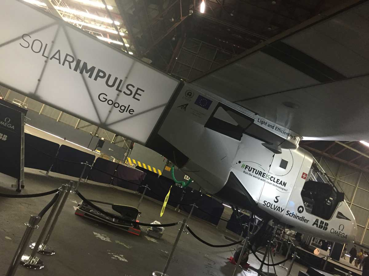 Photo: The Solar Impulse aircraft awaits its next flight at JFK Airport in New York