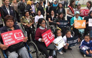 Photo: Participants pose at a Habitat 3 side event on disabilities sponsored by World Enable.