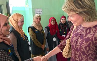 HM Queen Mathilde visits UNICEF Makani Center in Mafraq Photo credit: UNICEF