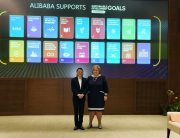 SDG Advocates Prime Minister Erna Solberg and Jack Ma met in Hangzhou, China. Photo credit: Norwegian Ministry of Foreign Affairs