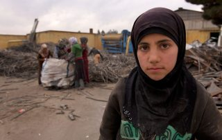 Although she used to be in Grade 6, 12-year old Ayesh, who fled to Turkey from the Idlib Governorate of Syria does not attend school. Photo: UNICEF/Shehzad Noorani