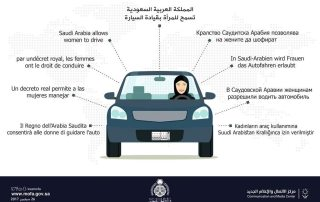 Graphic from the Saudi Communication and Media Center on 26 September 2017 explaining that women are allowed to drive. Photo: Saudi Ministry of Foreign Affairs