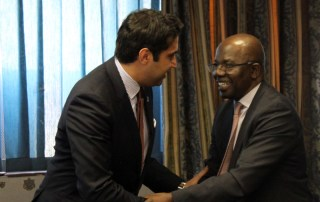 Ahmad Alhendawi with Dr. Agostinho Zacarias, UN Resident Coordinator