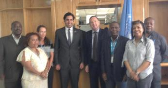 The Envoy on Youth with members of the UN Country Team in Papua