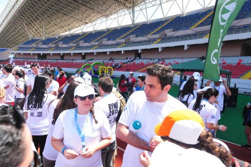 UN Envoy on Youth Ahmad Alhendawi with BYND 2015 participants at the Be Healthy Segment
