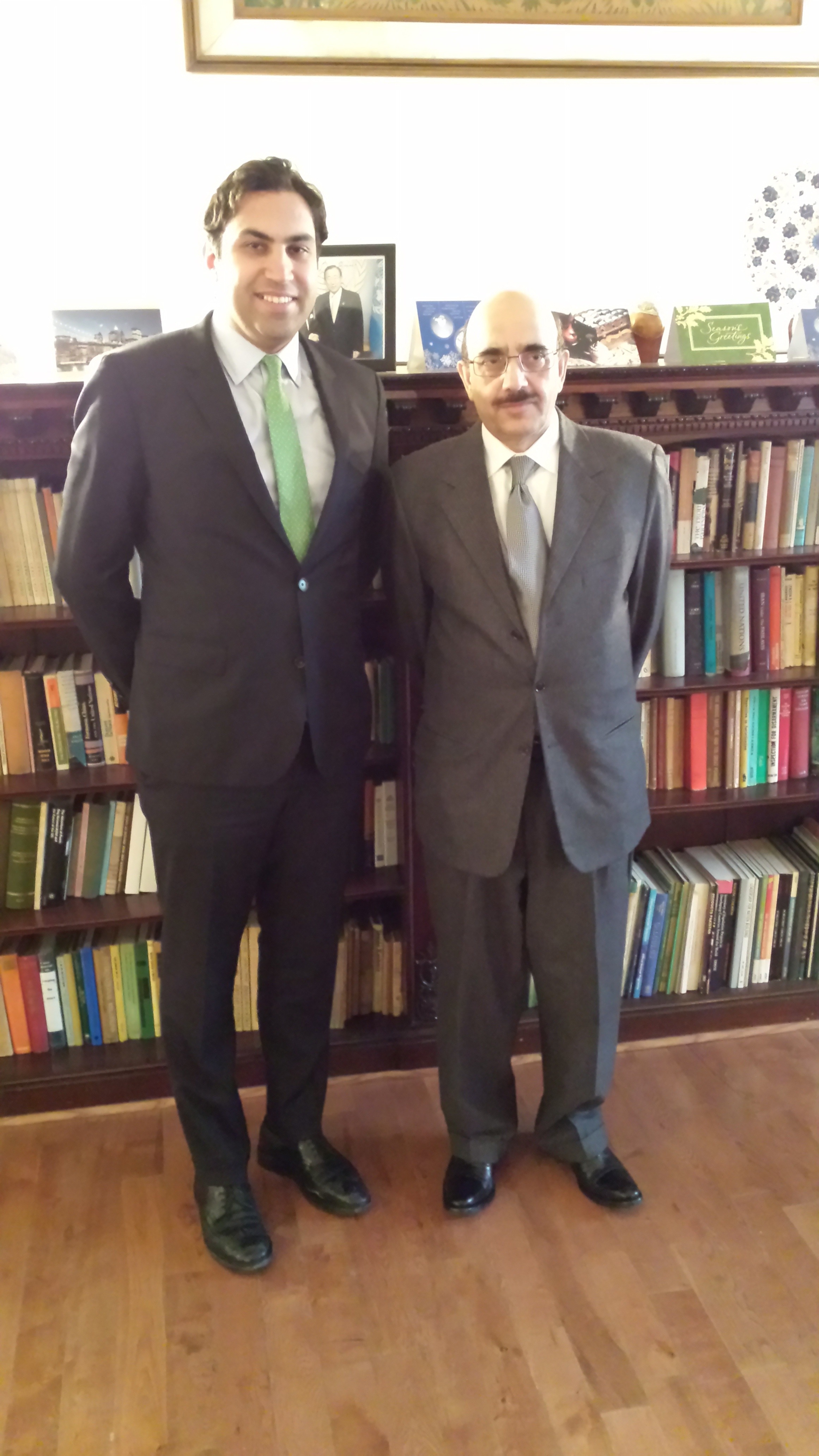 UN Envoy on Youth with UN Permanent Representative of Pakistan