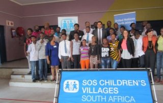 Alhendawi with the youth representatives from SOS villages