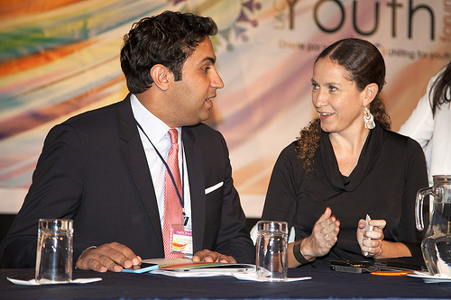 The UN Envoy on Youth with Ms. Cecilia Vaca Jones, H.E. the Coordinating Minister for Social Development of Ecuador.