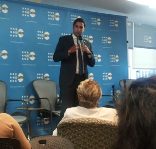 Ahmad Alhendawi at the closing of the UN Open Meeting with youth