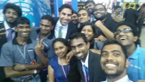Selfie at the UN booth.