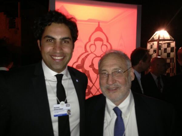 Ahmad Alhendawi with Joseph Stiglitz