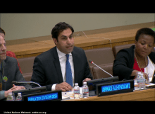 Ahmad Alhendawi, the Youth Envoy, speaks at the 47th session of the Commission on Population and Development