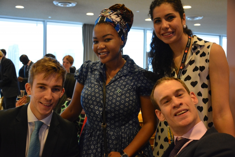 Young participants. Far right, Young Leader for the Sustainable Development Goals, Anthony Ford-Shubrook (UNDP Photo)