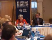 © ITU/M. Jacobson - Gonzalez -Irina Bokova, UNESCO Director General, and Mats Granryd, Director General, GSMA, Broadband Commission Working Group on the Digital Gender Divide, 15 March 2017, Hong Kong