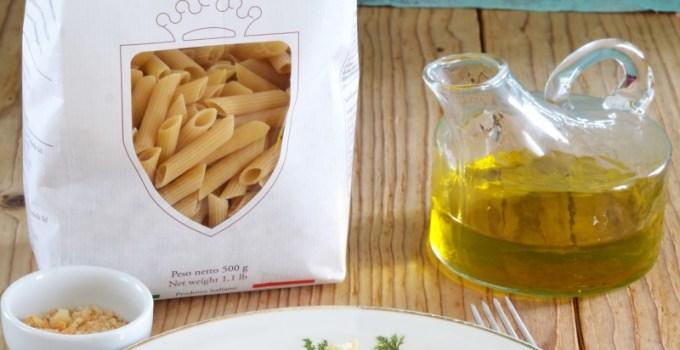 Pennette Pasta di Canossa con ciaudedda lucana vegetariana