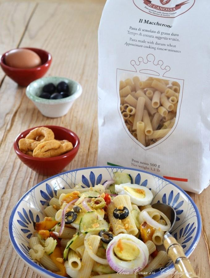 Insalata fredda di pasta con Capunata Molisana - Una casa in campagna - Pasta di Canossa - Alessandra Colaci