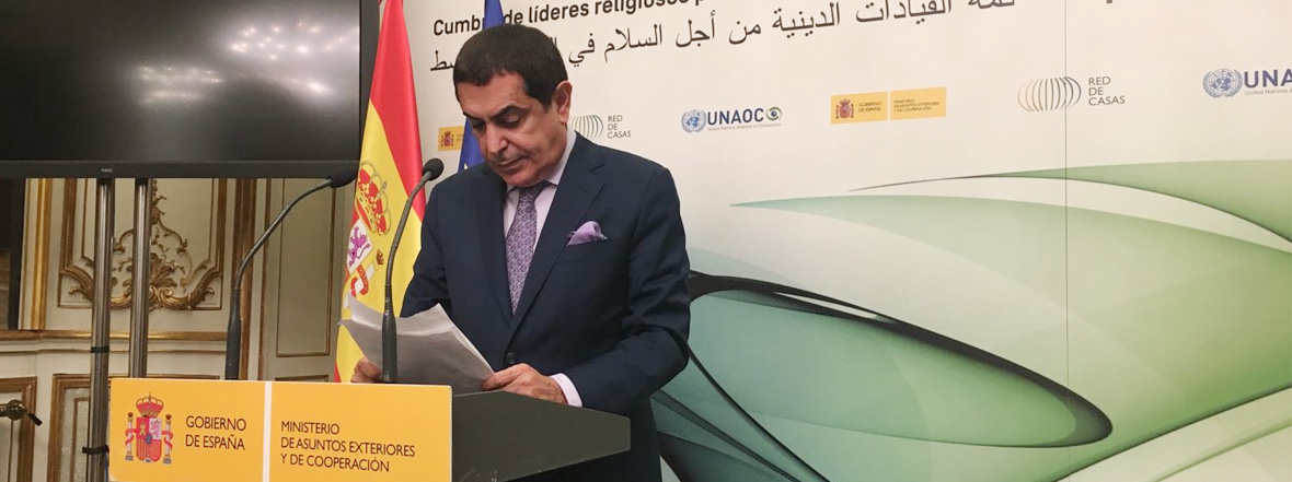 Al-Nasser Remarks at the closing of the Summit of Religious Leaders for Peace in the Middle East